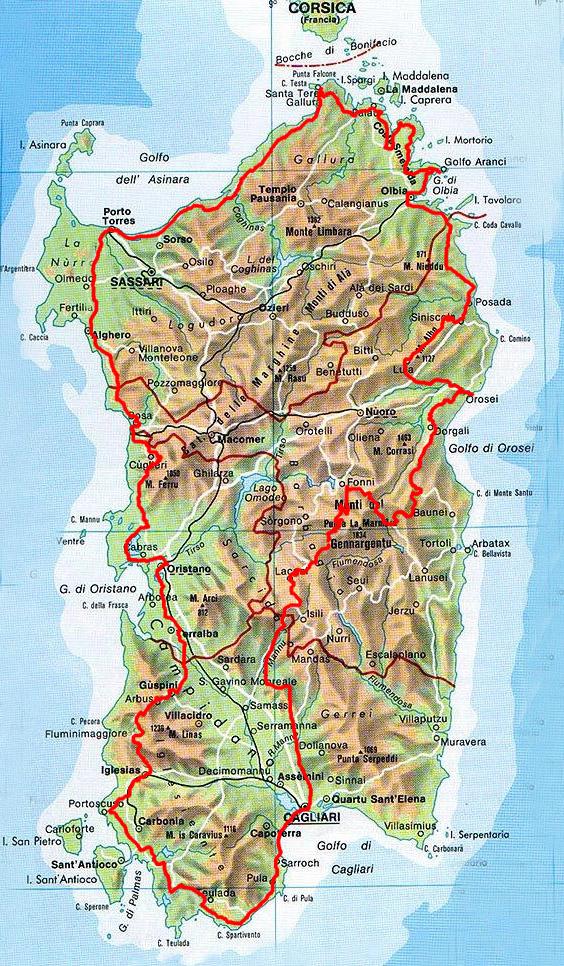 карта сардиния фото надежную