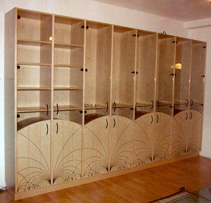 in sprint 1996 i commissioned this cabinet from a professional carpenter the design on the front is based on a mathematical pattern of straight lines and - Cabinet Pics
